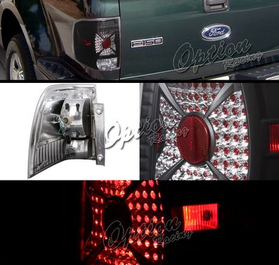 Ford Expedition 2003-2006 Black LED Style Tail Lights