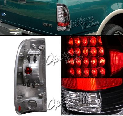 Ford F150 1997-2003 Black LED Style Tail Lights