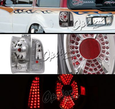 Lincoln Navigator 1998-2002 Black LED Style Tail Lights