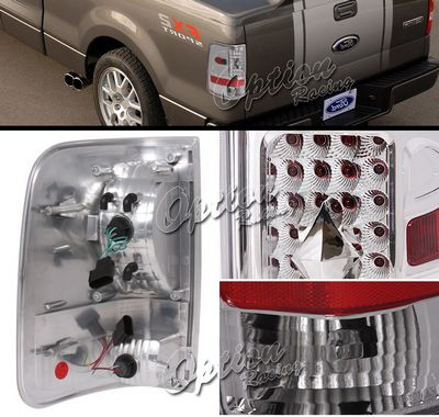 Ford F150 2004-2008 Clear LED Style Tail Lights