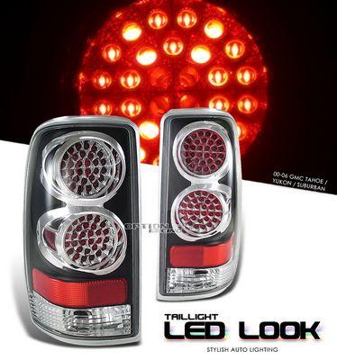 GMC Yukon Denali 2001-2006 Black LED Style Tail Lights