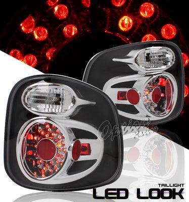 Ford F150 1997 2003 Stepside Black Led Style Tail Lights