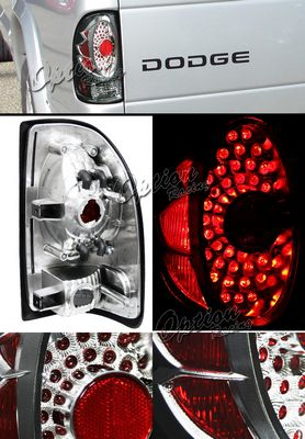 Dodage Dakota 1997-2004 Black LED Style Tail Lights