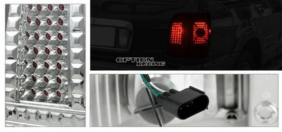 Lincoln Navigator 2003-2006 Clear LED Style Tail Lights