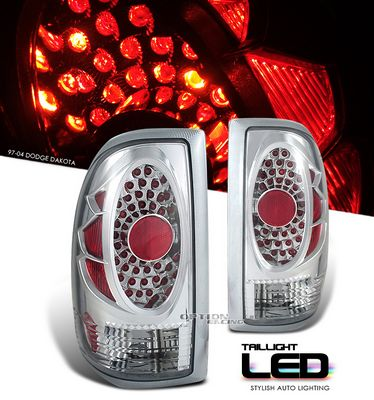 Dodge Dakota 1997-2004 Chrome LED Style Tail Lights