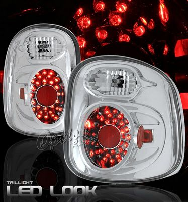 Ford F150 1997-2003 Stepside Clear LED Style Tail Lights