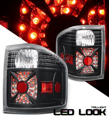 Ford F150 2004-2007 Flareside Black LED Style Tail Lights