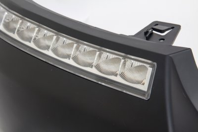 Ford F150 2004-2008 LED DRL Front Upper Bumper Cover Black