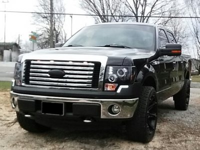 Ford F150 2009 2014 Led Drl Front Upper Bumper Cover Black