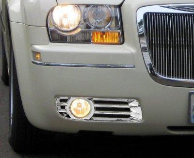New Driver /& Passenger Side Fog Light Trim Set For 2005-2010 Chrysler 300 300C