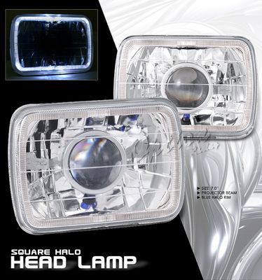 Jeep Wrangler 1987-1995 7 Inch Halo Sealed Beam Projector Headlight Conversion