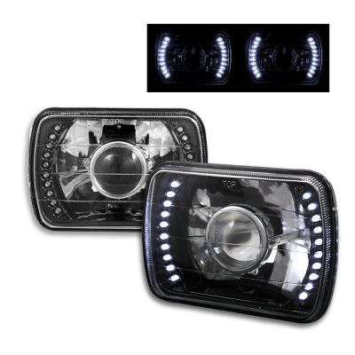 Ford F150 1978 1986 Led Black Sealed Beam Projector