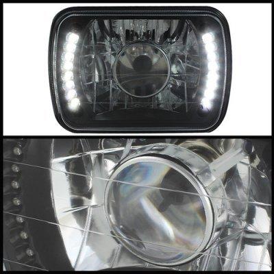 Chevy Citation 1980-1985 LED Black Sealed Beam Projector Headlight Conversion