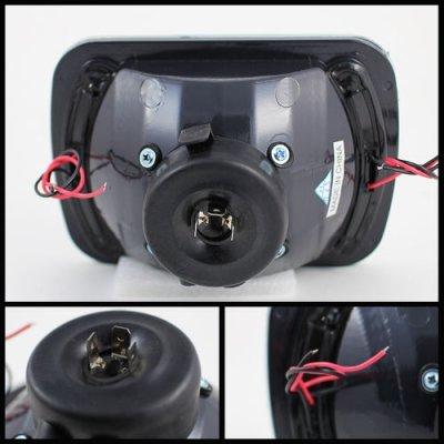 Dodge Ram 350 1981-1993 LED Black Sealed Beam Projector Headlight Conversion