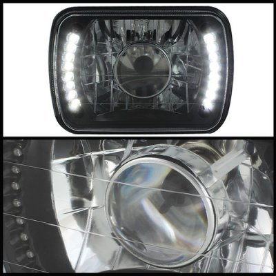 Subaru XT 1985-1991 LED Black Sealed Beam Projector Headlight Conversion