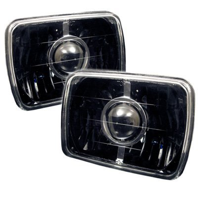 1999 Chevy Tahoe Black Sealed Beam Projector Headlight Conversion