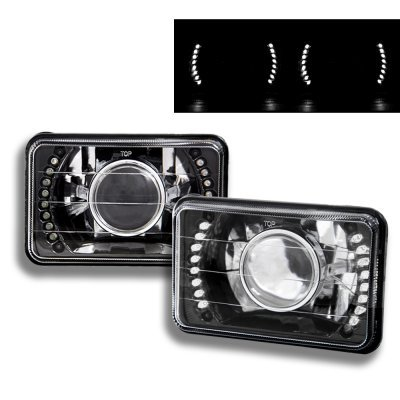 Saturn Sc2 1993 1996 Led Black Sealed Beam Projector Headlight Conversion A103xp4s199 Topgearautosport