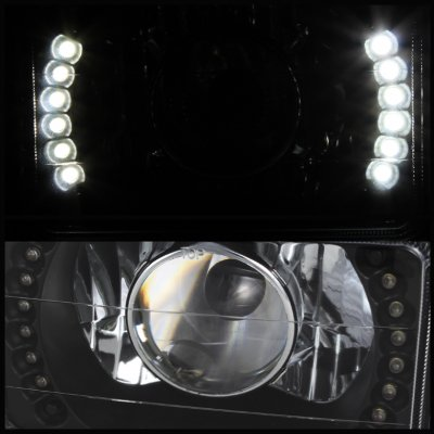 chevy camaro 1982 1992 led black sealed beam projector headlight conversion a103f4c8199. Black Bedroom Furniture Sets. Home Design Ideas