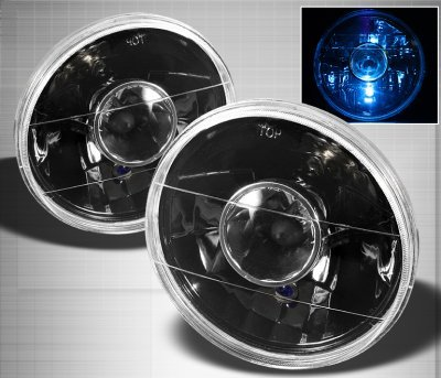 Plymouth Barracuda 1972-1974 Black 7 Inch Sealed Beam Projector Headlight Conversion