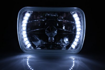 1979 Ford Bronco White LED Sealed Beam Headlight Conversion