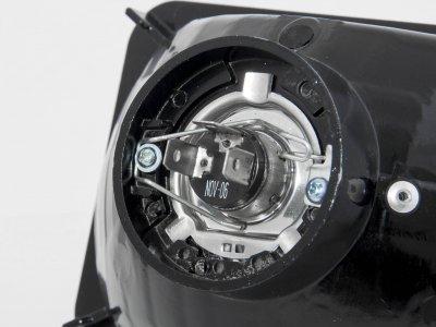 Chevy Suburban 1981-1988 4 Inch Black Sealed Beam Projector Headlight Conversion