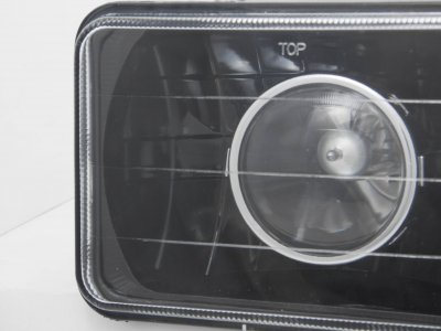 1986 Pontiac Parisienne 4 Inch Black Sealed Beam Projector Headlight Conversion