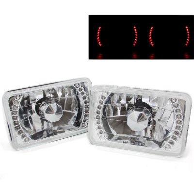 Chevy Blazer 1995-1997 Red LED Sealed Beam Headlight Conversion