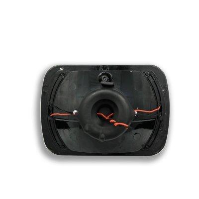 1985 Dodge Aries Amber LED Black Chrome Sealed Beam Headlight Conversion