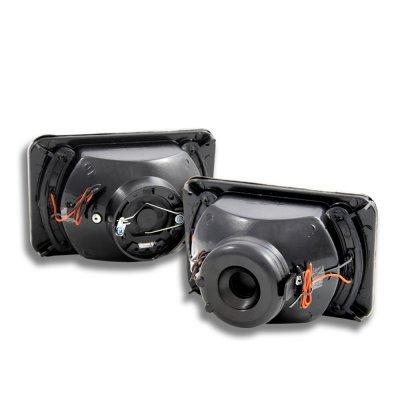 Honda CRX 1984-1985 Amber LED Black Chrome Sealed Beam Projector Headlight Conversion