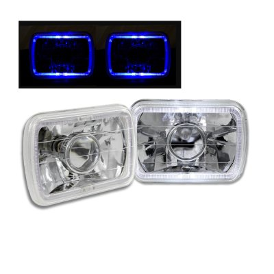 Ford Bronco 1979-1986 Blue Halo Sealed Beam Projector Headlight Conversion