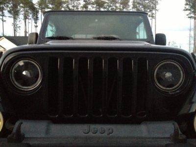 Jeep Wrangler 1997-2006 Black Halo Sealed Beam Headlight Conversion