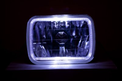 GMC Safari 1986-2004 Black 7 Inch Halo Sealed Beam Headlight Conversion
