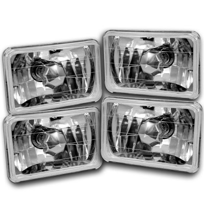 Chevy 1500 Pickup 1981-1987 4 Inch Sealed Beam Headlight Conversion Low and High Beams