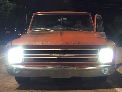 Gmc Sierra Running Boards >> Chevy C10 Pickup 1967-1979 7 Inch Sealed Beam Headlight ...