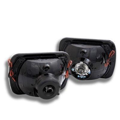 Buick Reatta 1988-1991 Amber LED Black Chrome Sealed Beam Projector Headlight Conversion