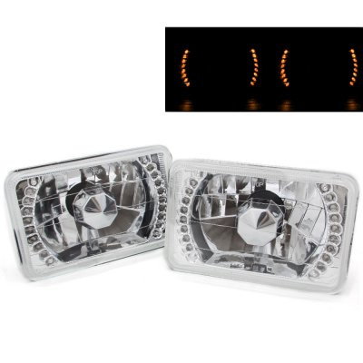 Mitsubishi 3000GT 1990-1993 Amber LED Sealed Beam Headlight Conversion