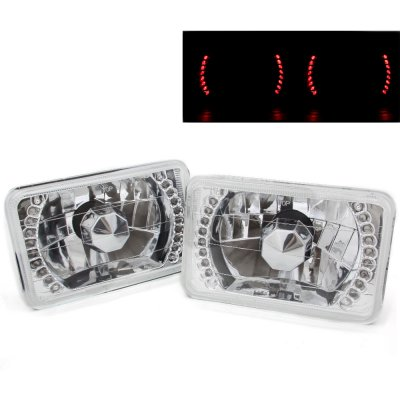VW Scirocco 1982-1988 Red LED Sealed Beam Headlight Conversion