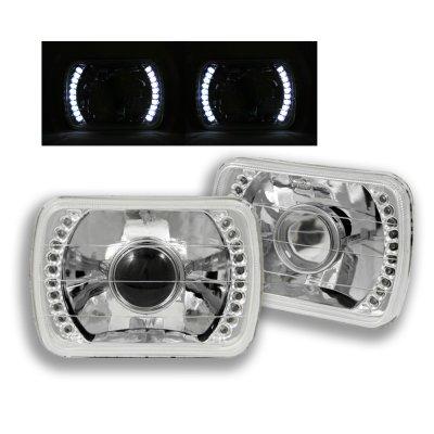 Mazda RX LED Sealed Beam Headlight Conversion - 1991 acura integra headlights