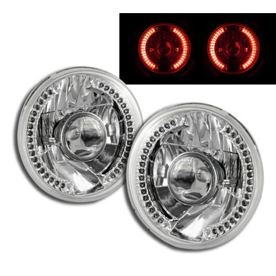 Hummer H1 2002-2006 Red LED Sealed Beam Projector Headlight Conversion