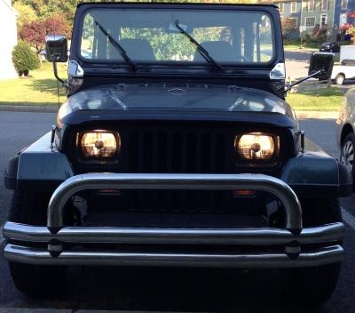 Dodge Ram Bull Bar >> Jeep Wrangler 1987-1995 Black and Chrome Sealed Beam ...