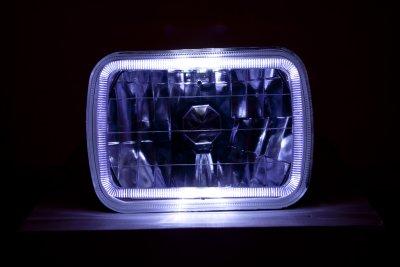 Jeep Grand Wagoneer 1987-1991 Black 7 Inch Halo Sealed Beam Headlight Conversion