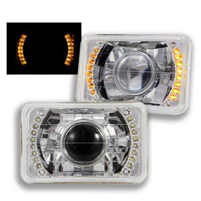 Dodge Dakota 1987-1990 Amber LED Sealed Beam Projector Headlight Conversion