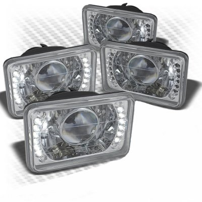 Chevy El Camino 1982-1987 LED Sealed Beam Projector Headlight Conversion Low and High Beams