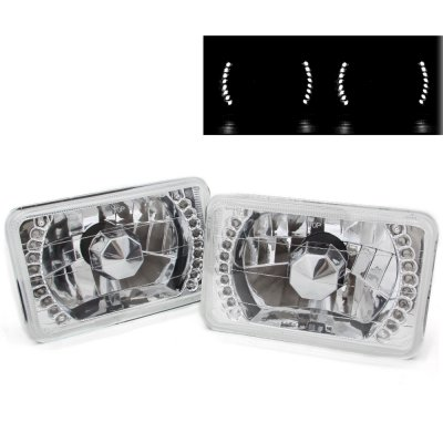 Saturn SC2 1993-1996 White LED Sealed Beam Headlight Conversion