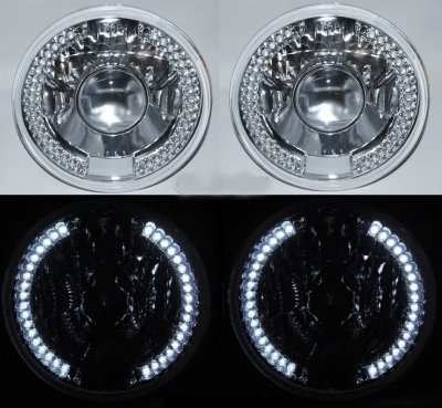 VW Beetle 1971-1979 7 Inch LED Sealed Beam Projector Headlight Conversion