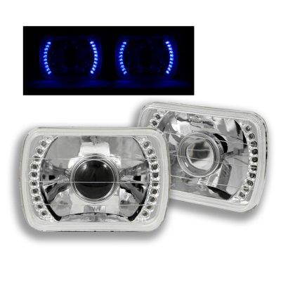 Chevy Blazer 1980-1994 Blue LED Sealed Beam Projector Headlight Conversion