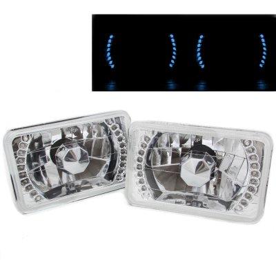 Chevy Blazer 1981-1988 Blue LED Sealed Beam Headlight Conversion