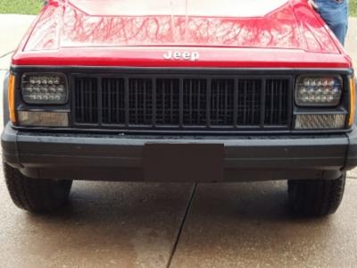 Jeep Cherokee 1979 2001 Black Full Led Seal Beam Headlight