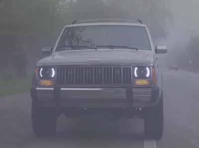 Jeep Wrangler Fog Lights >> Jeep Cherokee 1979-2001 White LED Black Sealed Beam Headlight Conversion | A12879QC199 ...