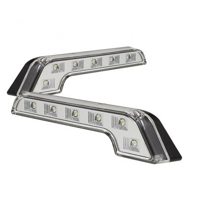 Clear MB Style LED DRL Daytime Running Lights